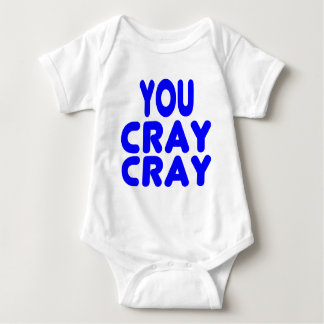 Cray Cray Internet Memes Royal Blue Baby Bodysuit