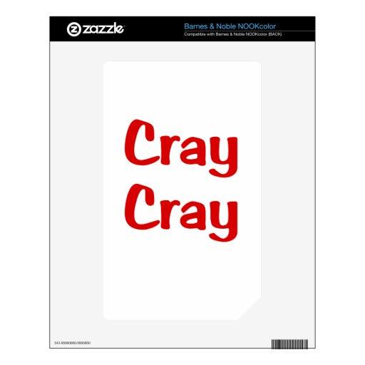 Cray Cray NOOK Color Calcomanía
