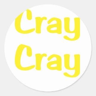 Cray Cray Pegatina Redonda