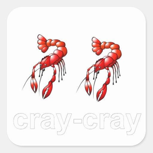 Cray Cray Pegatina Cuadrada