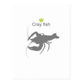 Cray fish g5c postcard