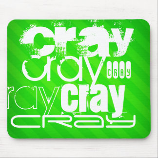 Cray; Neon Green Stripes Mouse Pad