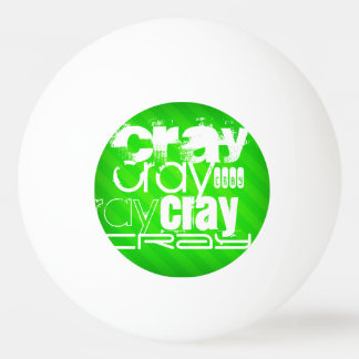 Cray; Neon Green Stripes Ping-Pong Ball