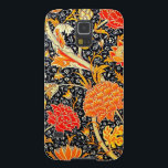 "Cray Samsun Galaxy case<br><div class=""desc"">this vintage art is Cray a floral wallpaper pattern from William Morris circa 1884. Its packed with fall colors,  browns,  yellows,  oranges and reds primarily on a black background.</div>"