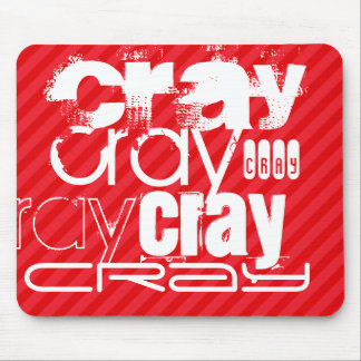 Cray; Scarlet Red Stripes Mouse Pad