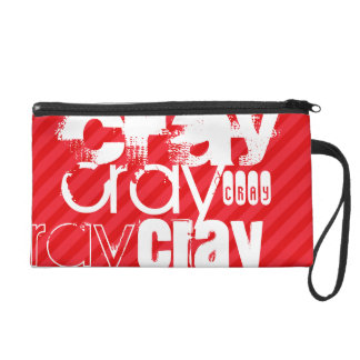 Cray; Scarlet Red Stripes Wristlet Purse