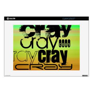 Cray; Verde vibrante, naranja, y amarillo Skins Para 38,1cm Portátil