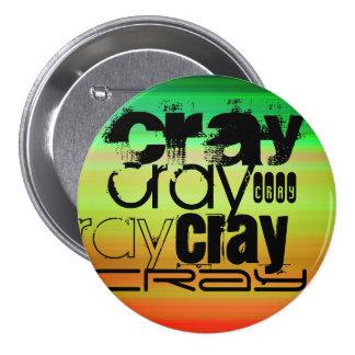 Cray; Vibrant Green, Orange, & Yellow 3 Inch Round Button