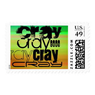 Cray; Vibrant Green, Orange, & Yellow Postage