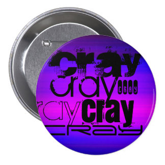 Cray; Vibrant Violet Blue and Magenta 3 Inch Round Button