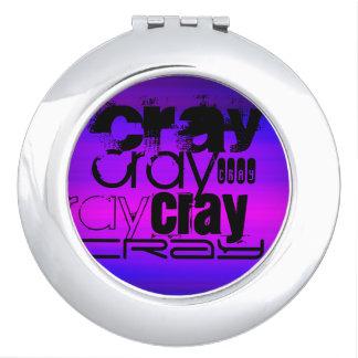 Cray; Vibrant Violet Blue and Magenta Compact Mirror
