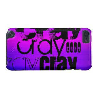 Cray; Vibrant Violet Blue and Magenta iPod Touch (5th Generation) Case