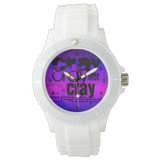 Cray; Vibrant Violet Blue and Magenta Watch