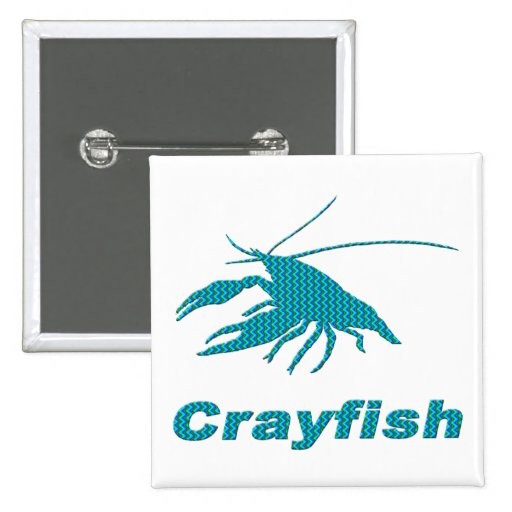 Crayfish-29 2 Inch Square Button