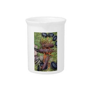 Crayfish and paua (abalone) catch, New Zealand Drink Pitchers