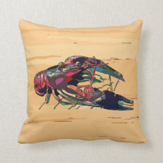 Crayfish Crawfish Wood Look Sign Throw Pillow