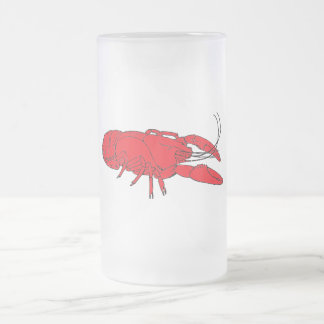 crayfish frosted glass beer mug