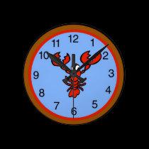 Crayfish Lobster Clock wall clocks