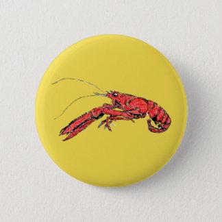 Crayfish Louisiana Pinback Button