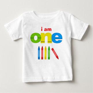 Crayon 1st Birthday T-shirt Toddler Baby Kid