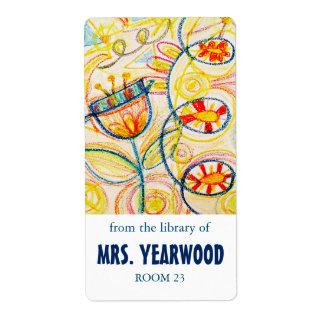 Crayon Art Bookplates Label
