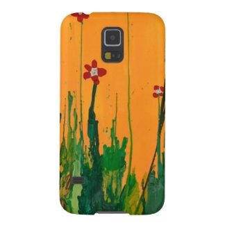 crayon art flowers galaxy s5 case