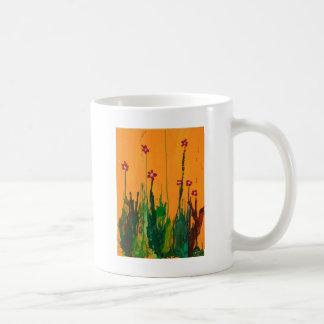 crayon art flowers mugs