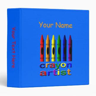Crayon Artist Template Blue Binder