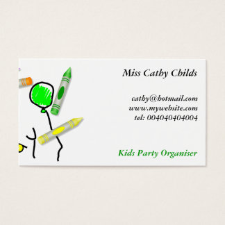 Crayon Birthday Greeting, Business Card