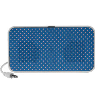 Crayon Blue And Pink Polka Dots Pattern. Speaker System