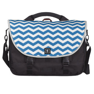 Crayon Blue And White Zigzag Chevron Pattern Commuter Bags