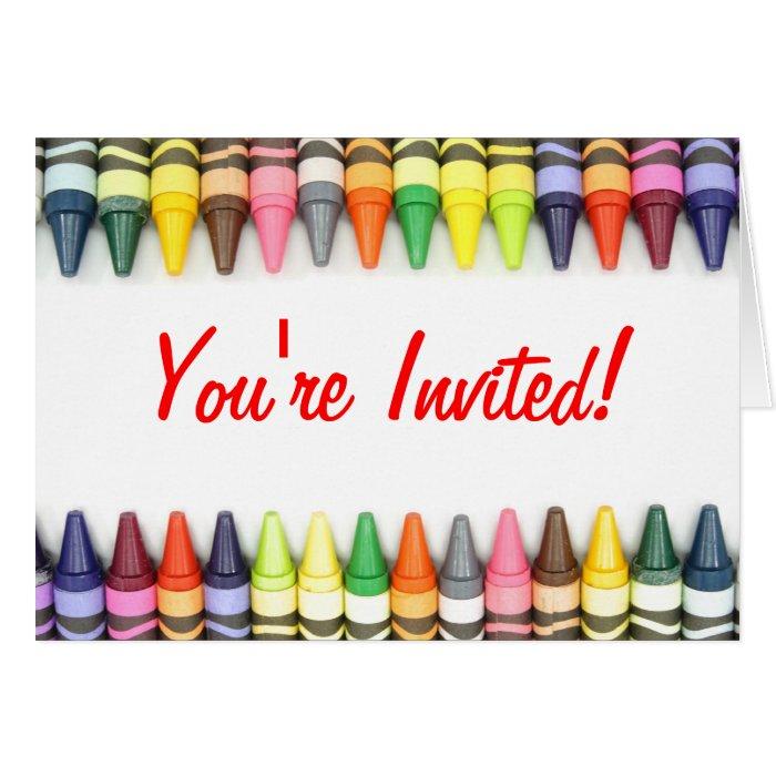 Crayon Border Invitation