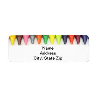 Crayon border return address label. return address label