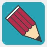 Crayon_carré_3,8 Pegatina Cuadradas Personalizadas