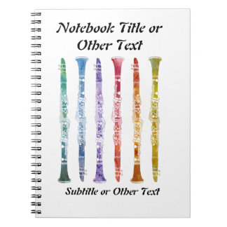 Crayon Clarinets Note Books