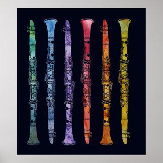 Crayon Clarinets Poster