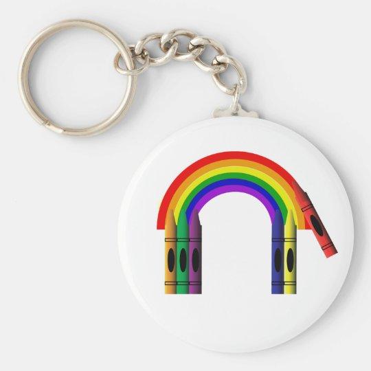 Crayon Color a Rainbow Key Chain