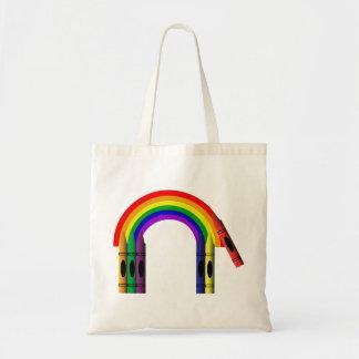 Crayon Color a Rainbow Tote Bag
