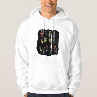 Crayon Colorful male and female figures random aga Hooded Sweatshirt