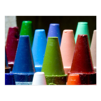 Crayon Colors Postcard