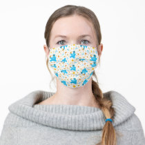 Crayon Cookie Monster Cookie Pattern Adult Cloth Face Mask