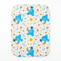Crayon Cookie Monster Cookie Pattern Baby Burp Cloth
