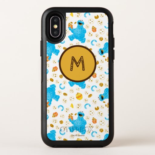 Crayon Cookie Monster Cookie Pattern OtterBox Symmetry iPhone X Case