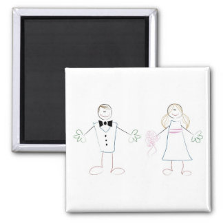 Crayon Couple Magnet