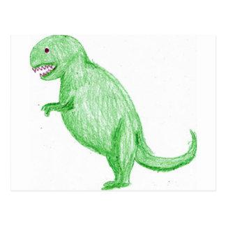 Crayon Dinosaur Postcard