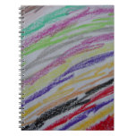 Crayon Drawing Lines Spiral Note Book