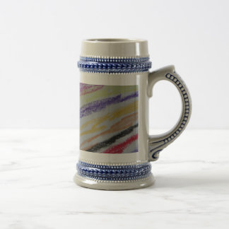 Crayon Drawn Lines Beer Stein