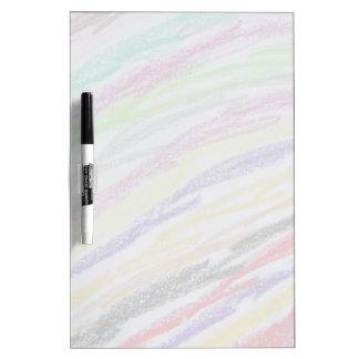 Crayon Drawn Lines Dry Erase Board