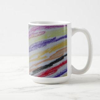 Crayon Drawn Lines Coffee Mug