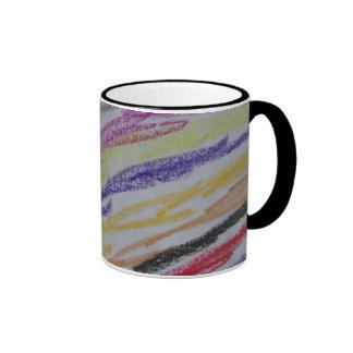 Crayon Drawn Lines Mug